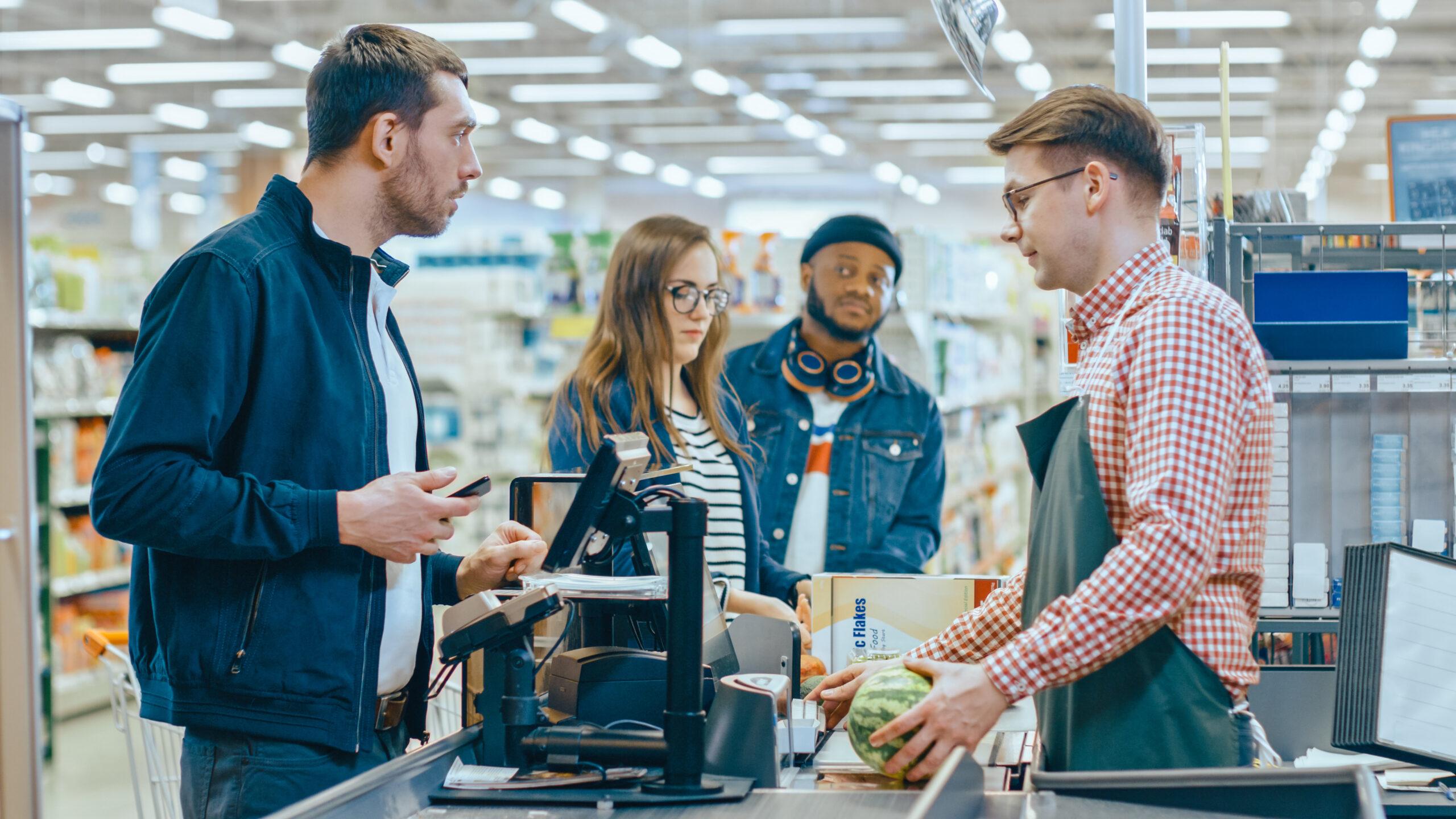 filas de supermercado